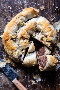 Moroccan Chocolate Almond Phyllo Cake (Snake Cake)   halfbakedharvest.com @hbharvest #yummycakes