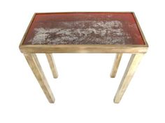Lucca Antiques - Tables: Limited Edition Red Industrial Iron Top Table