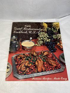 1970s Campbell Cookbook Great Restaurants Cookbook, USA #1970sCooking #VintageKitchen #1970sCookbook #CampbellsCookbook #VintageRecipes #1970sGraphicsPhoto #1970sKitchen #CampbellsSoupBook #VintageCookbook #1970sRecipes
