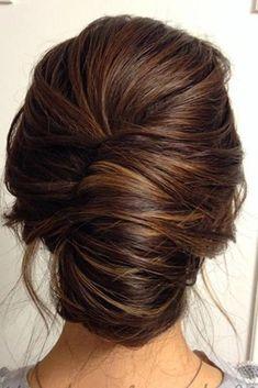 wedding hairstyles length medium hair dark french roll hairbyamandam