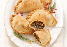 Pierogi pieczone z soczewicą i pieczarkami Pierogi, Spanakopita, Feta, Chicken, Ethnic Recipes, Cubs