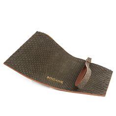 Plic Wristlet Bocane Exotique, din Piele de Piton Cafenie - Bocane Italian Leather, Hand Bags, Leather Bag, Hats, Beautiful, Collection, Fashion, Moda, Hat