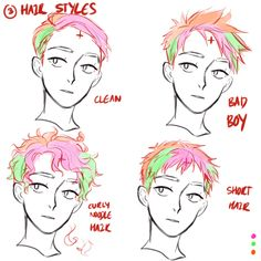 Reference to draw hair. Credits to Viria. That's rough, buddy.