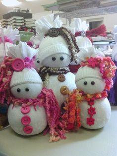Sock Snowmen or Snow Babies As I Like To Call Them :: Hometalk