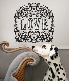 Valentines Day Decor idea Velvet Love Wall Love Quote wall art by jonathan adler valentines day decor idea from WallPops wall decals