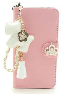 """ZZYBIA® IP6 Plus 5.5 TCD Pink Leatherette Stand Case Card Holder Wallet with a White Dog Fringed Dust Plug Charm for Apple iPhone 6 Plus 5.5"""" ZZYBIA http://www.amazon.com/dp/B00NYWIMZQ/ref=cm_sw_r_pi_dp_PXJJub0VBHBCQ"""