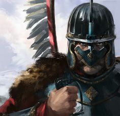 Polish Winged Hussar |< us (husar to war) 172°,60,20´ https://de.pinterest.com/rwjohnson75/polish-winged-hussars/