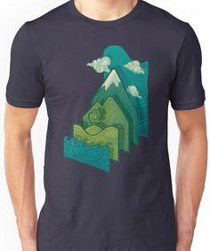 How to Build a Landscape Unisex T-Shirt