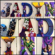 NEWLY LISTED! Click the link in my bio and check out the newly listed Marvel/DC wall letters listing. Can be customized to any characters preferred! #MiaMonroeBoutique