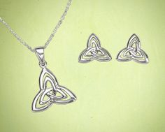 Double Trinity Knot Jewelry - Made in Ireland