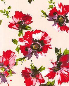 Modern Monet Burshstroke Poppies