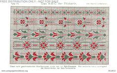 Gallery.ru / Фото #80 - Das ABC der Stickerin - gabbach Cross Stitch Borders, Cross Stitch Flowers, Cross Stitching, Cross Stitch Patterns, Art Nouveau Design, Art Deco, Das Abc, Stitch Design, Filet Crochet