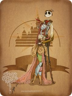 Steampunk Jack and Sally (!)