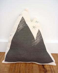 Just ordered this for Adam's nursery! Super excited ORGANIC Mountain Pillow - Black & White via Etsy