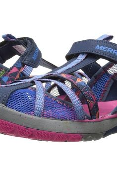 Merrell Kids Hydro Monarch (Toddler/Little Kid/Big Kid) (Navy) Girls Shoes - Merrell Kids, Hydro Monarch (Toddler/Little Kid/Big Kid), MC56491-410, Footwear Open Casual Sandal, Casual Sandal, Open Footwear, Footwear, Shoes, Gift, - Street Fashion And Style Ideas