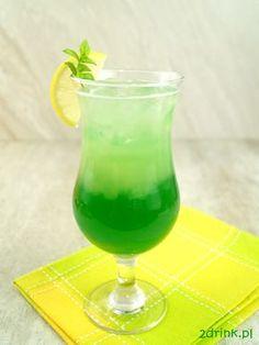 Zapraszam na dwukolorowy, warstwowy drink z Frugo - Sexy thing. Liquor Drinks, Beverages, Mojito, Hurricane Glass, Rum, Smoothie, Food And Drink, Cocktails, Tableware