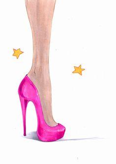 How to Draw Heels -- via wikiHow.com