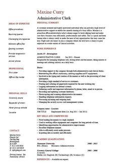cv for hotel job