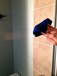 Do you have glass shower doors? This one simple trick could keep soap scum off those doors longer. That means a lot less time cleaning them!!