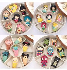 Cupcakes Decorados Disney Ideas For 2019 Disney Desserts, Cute Desserts, Disney Food, Comida Disney, Round Gift Boxes, Cute Baking, Macaron Cookies, Cute Clay, Cute Cookies