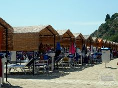 Sperlonga, Italy - Italy Connect - These Need To Be Reserved And Have A Rental Fee #travel #italy #photography #beach #spiaggia
