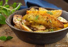 Pečené zemiaky s rozmarínom a bazalkou