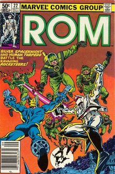 Cover for ROM (Marvel, September [Direct Edition] Marvel Comic Books, Comic Book Heroes, Comic Books Art, Comic Art, Book Art, Tad Williams, Dr Octopus, Space Knight, Sal Buscema