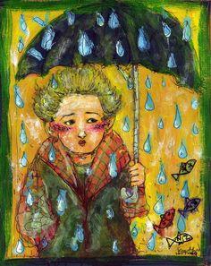 walking in the rain. by *koony on deviantART