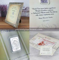 Sztabka ze srebra - certyfikat na Chrzest Święty z Twoją dedykacją http://bit.ly/1HhypPZ