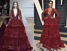 Beyonce Knowles Wore Five More Custom Balmain Looks During Her Second Coachella Performance - Page 4 of 8880 - Red Carpet Fashion Awards Tracee Ellis Ross, Red Gowns, Vanity Fair Oscar Party, Red Carpets, Princess Dresses, Beyonce Knowles, Zuhair Murad, Academy Awards, Red Carpet Looks