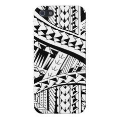 Tattoo style case with Samoan inspired patterns iPhone 5/5S Cover