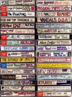 80's, New Wave, Rock, Punk, casettes, jeugdsentiment, casettebandjes