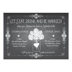 Tafel-Hochzeits-Proben-Maurer-Glas-Einladung