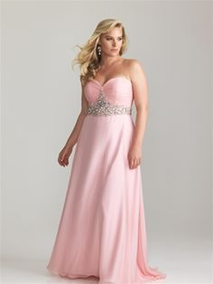 Night Moves Prom full figured in pastel pink #formalapproach