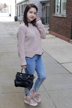 Wearing Pink All Year Round   Street Style   Fall fashion   winter fashion   denim   casual   Five Foot and Fabulous