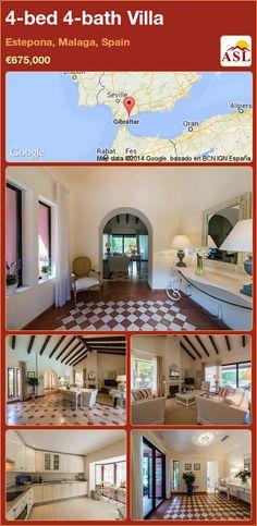 4-bed 4-bath Villa in Estepona, Malaga, Spain ►€675,000 #PropertyForSaleInSpain