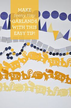 Make teeny tiny paper garlands with this easy DIY tip!