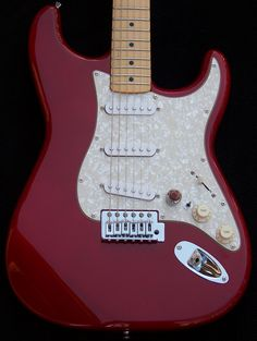 Haywire Custom Guitars Ruby Red Super Strat, 3 pickups and 7 WAY SWITCHING  Custom Mod Classic Solid Alder Strat body + Custom Shop Modifications Grover Tuners, New Finish and Upgraded with a New 21 Fret Custom Shop Neck + Middle SRV pickup Mini-Toggle Switch for Neck and Bridge Pickup for: 7 Way Switching Mini Toggle switch to add the neck pickup to the output signal no matter where the 5-way switch is: (7-way feature) + treble bleed.added. http://www.haywirecustomguitars.com