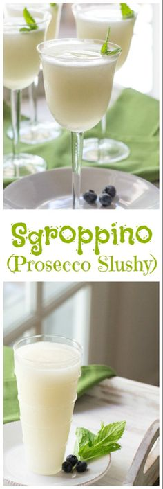 (an Italian Dessert Cocktail) Sgroppino - a frothy Italian dessert cocktail of sorbet, Prosecco, and vodka.Sgroppino - a frothy Italian dessert cocktail of sorbet, Prosecco, and vodka. Cocktail Desserts, Dessert Drinks, Party Drinks, Cocktail Drinks, Fun Drinks, Yummy Drinks, Cocktail Recipes, Alcoholic Drinks, Beverages
