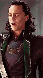 he looks kinda surprised.... yes Loki mortals aren't as stupid as what you think<<< omg this is hilarious