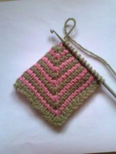Tunisian Crochet Pattern Tunisian Diamond child's by GillBux