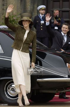 May 12, 2004--Mary Donaldson (shortly To Become Crown Princess Mary Of Denmark) And Crown Prince Frederik Attending A Party To Celebrate Their Marriage In The Danish Royal Family.