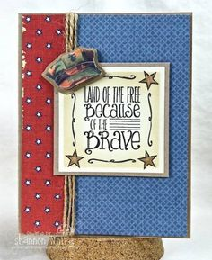 Enchanted Ladybug Creations: Hope you Hugged a Veteran Yesterday! Military Cards, Scrapbook Cards, Scrapbooking, Handmade Card Making, Homemade Christmas Cards, Beautiful Handmade Cards, Veterans Day, Paper Cards, Stampin Up Cards