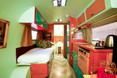 an interesting trailer layout camper rv caravan