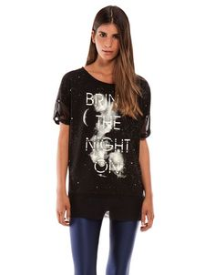 want outono 2013 #3 Bershka Portugal - 'T-shirt Bershka.Glows in the dar.'