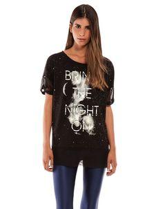 Bershka Serbia - Bershka 'Glows in the dark' T-shirt