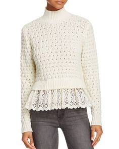 Rebecca Taylor Pop Stitch Pullover Sweater | Bloomingdale's