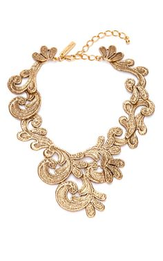 Cast Lace Necklace by Oscar de la Renta