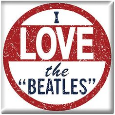 I LOVE THE BEATLES MAGNET [3571] - $4.00 : Beatles Gifts, The Fest for Beatles Fans