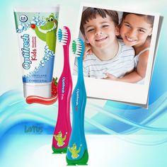 REKOR SATIYOR !!! Miniklere diş fırçalamayı sevdiren, çilek aromalı jel diş macunu ve özel vakum ayaklı eğlenceli temizlik sağlayan özel diş fırçaları... İsveç diş hekimleri birliği onaylı diş macunlarını ve fırçaları minikleriniz çok sevecek :) #oriflame #sağlık #çocuk #kids #diş #dişmacunu #optifresh
